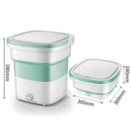 Bucket type ultrasonic pantyhose bra wireless folding bucket healthy children dry cleaning charging folding washing machine dehydrator