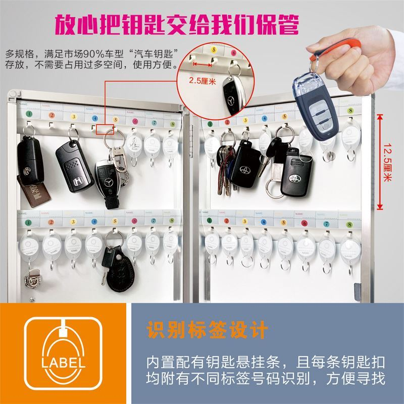 Companies. Intermediary key box wall mounted Sales Department parking garage safe deposit box key box wall durable