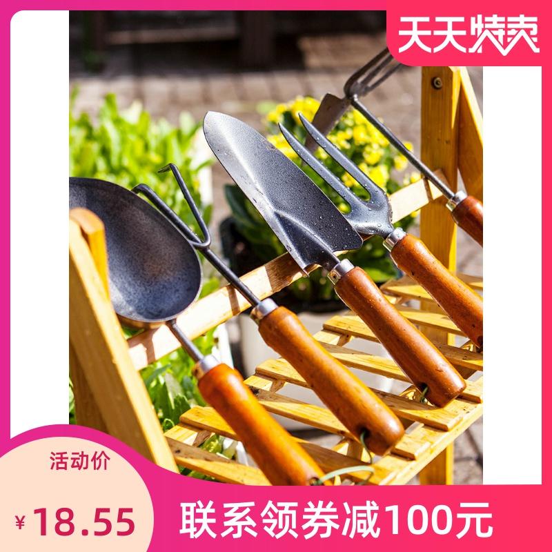 加厚园艺工具套装铁铲挖土用具家用花园菜园阳台多肉养花海滩铲子