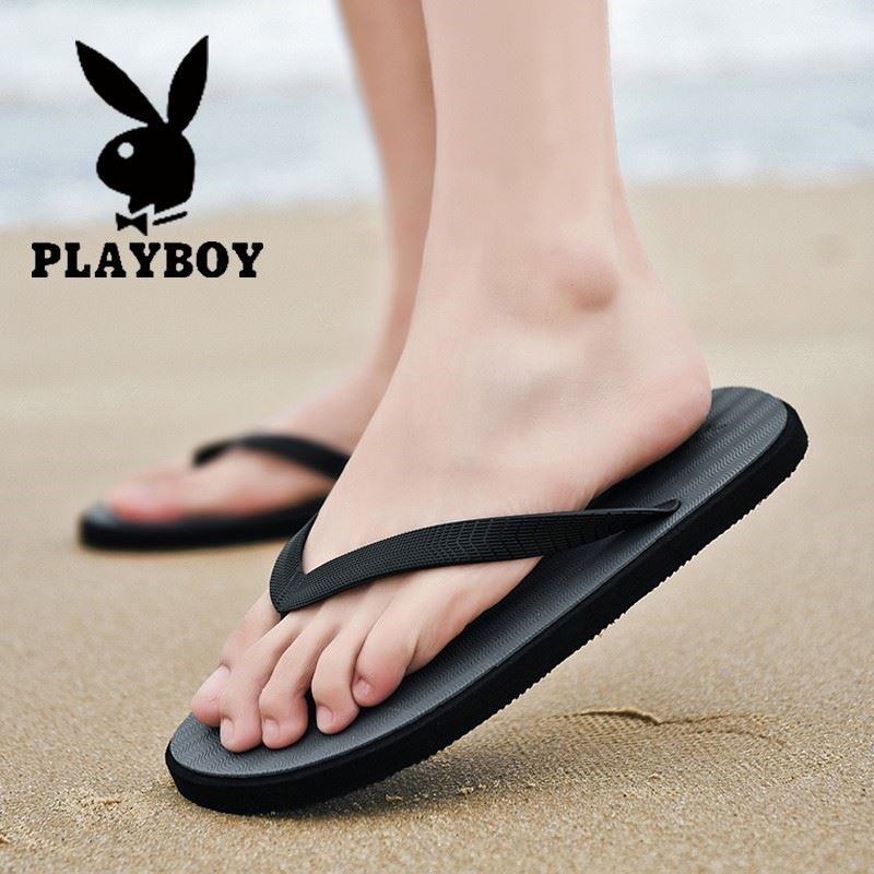 Playboy slippers mens wear out in summer
