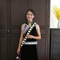028云南怒江傈僳族怒族少数民族套装女演出表演舞台成人服装可定