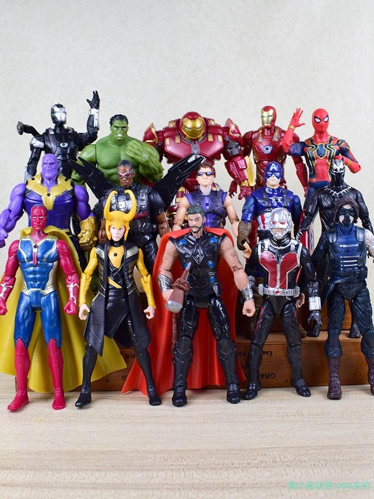 Foe alliance 4 complete set of hand-made movable spiders, iron man, venom man dolls, toys and gifts.