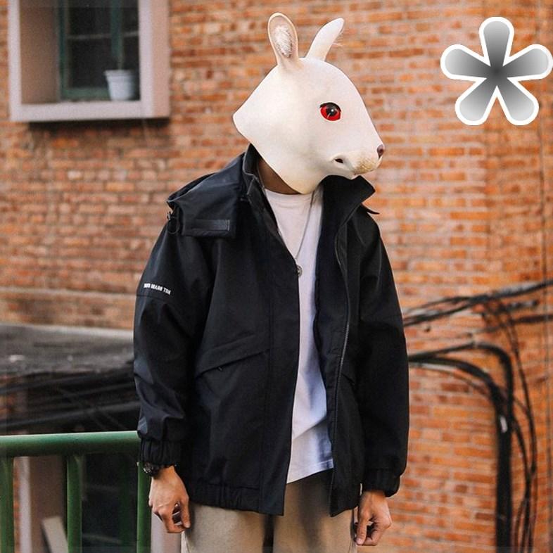 2021春季新款工装外套男士韩版ins潮牌可拆卸连帽宽松飞行员夹克