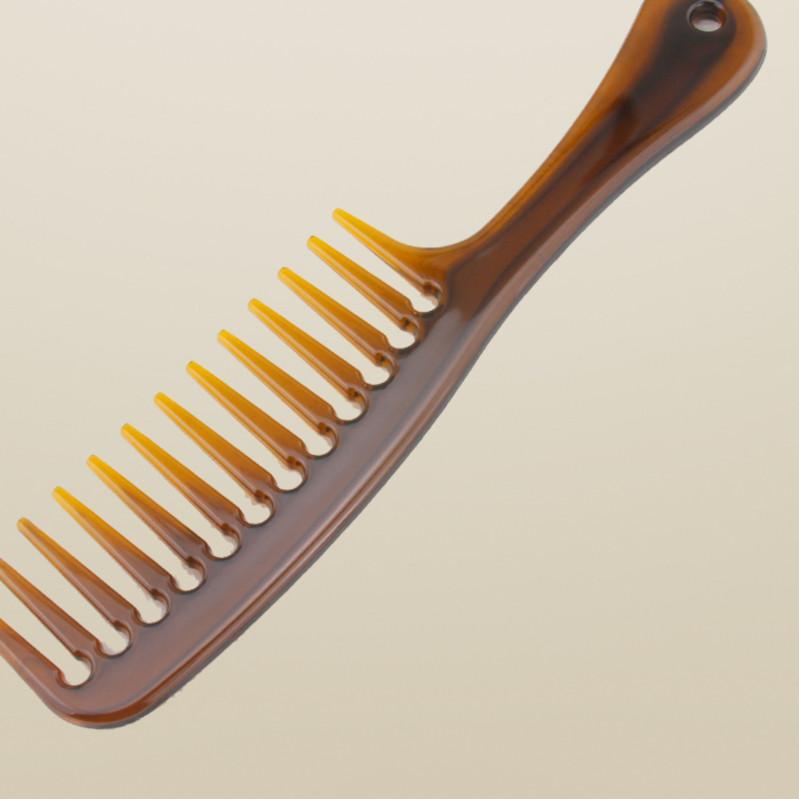 大号宽齿梳子大齿梳卷发专用梳头马尾假发梳防静电美发塑料梳磨。