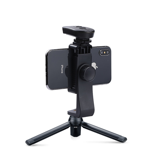 Mobile phone rotary three in one bracket clip cross section tripod Bluetooth self timer I pole universal 3C digital accessories pan tilt straight