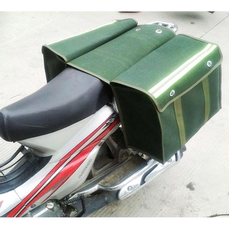 新品员邮局挂包邮政工具包驼鞍袋摩托车加大帆布邮包邮袋钓快递。