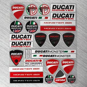 反光贴纸杜卡迪DUCATI821车标摩托车贴花头盔贴花防水个性画LOGO