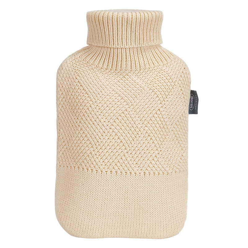 New knitted coat large water injection hot water bag small fresh college air heating water bag irrigation thickening safety