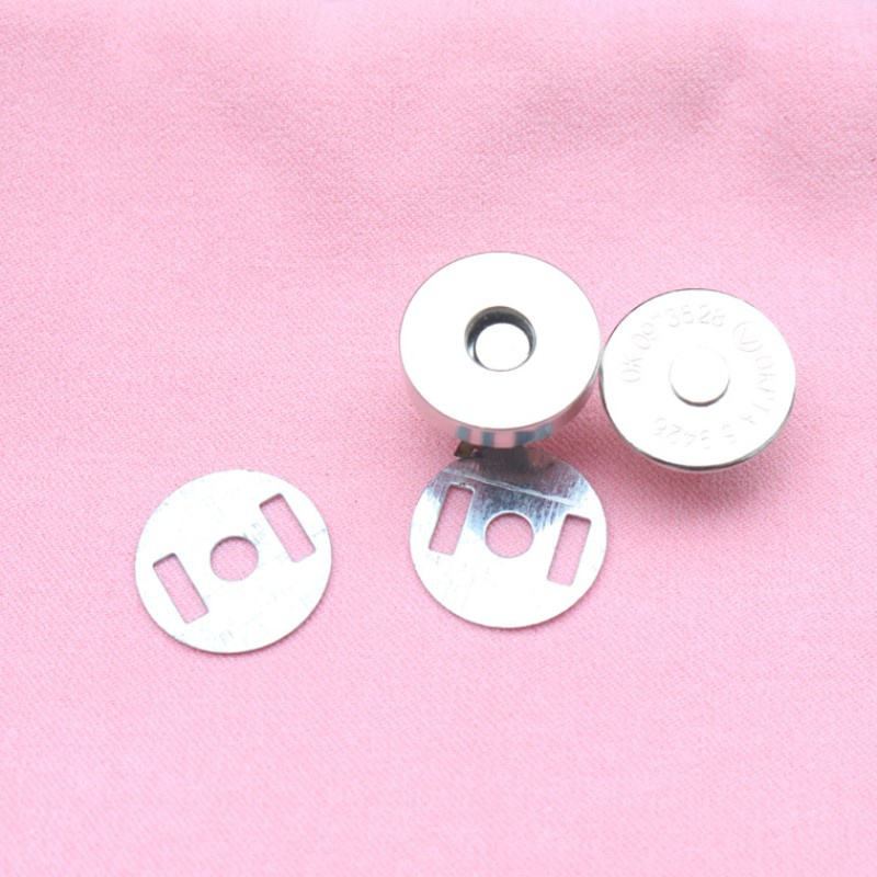 Magnet button purse invisible metal sew free button box and bag suction cup type accessories button.