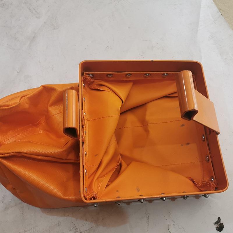 电动葫芦链条袋子环链吊袋收纳袋工业吊链收纳器耐压小型防护橘。