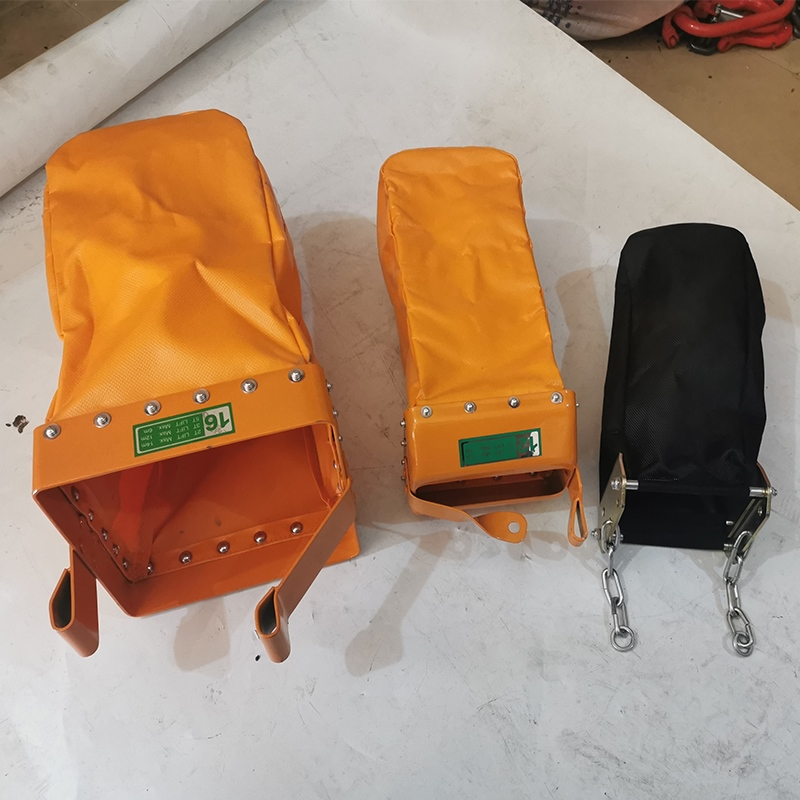 Electric hoist chain bag ring chain hanging bag industrial hanging chain container pressure small protective orange.
