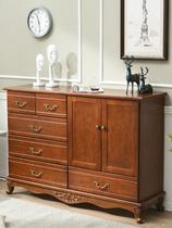 客廳五斗柜特價經濟型實木斗柜簡約現代儲物柜臥室多功能收納柜