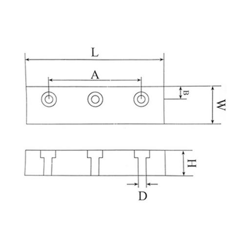 Board *- + = ¥: load bearing wear-resisting block is not s-parallel balanced equal height block thickness