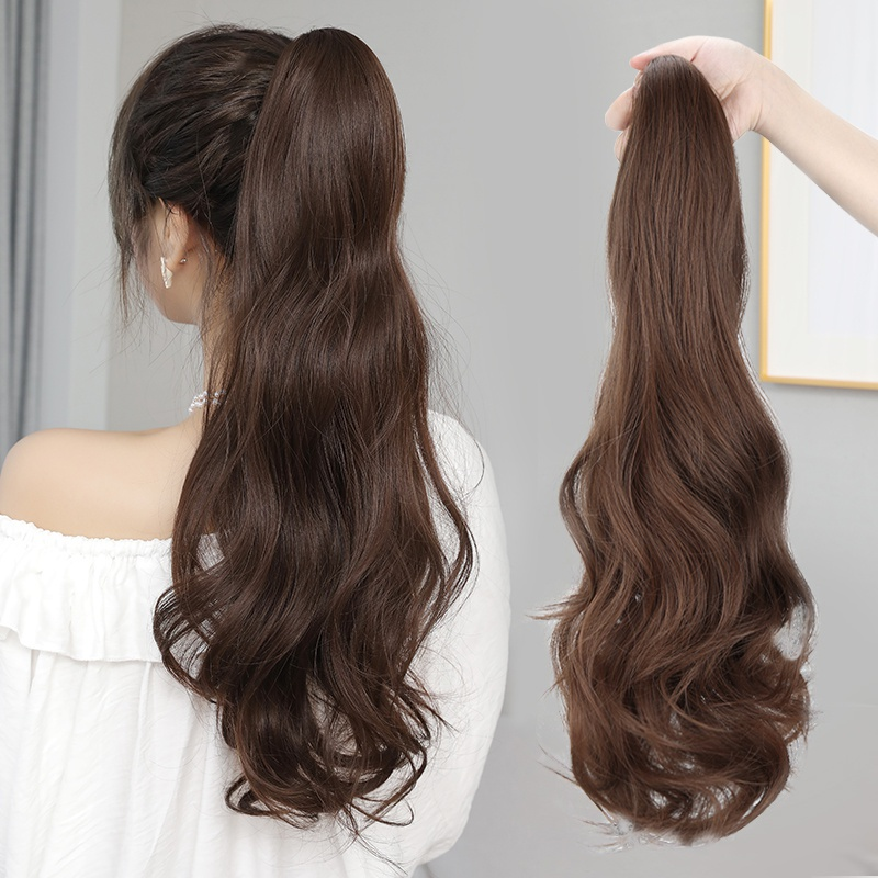 Single ponytail wig stage hair wave accessories goddess hairpin hair Princess simulation hair color braid