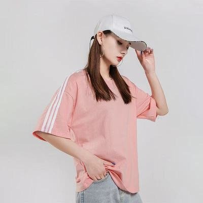 Anniversary event pattern custom color work clothes three bar T-shirt printed barbecue half sleeve red fake two off the shoulder