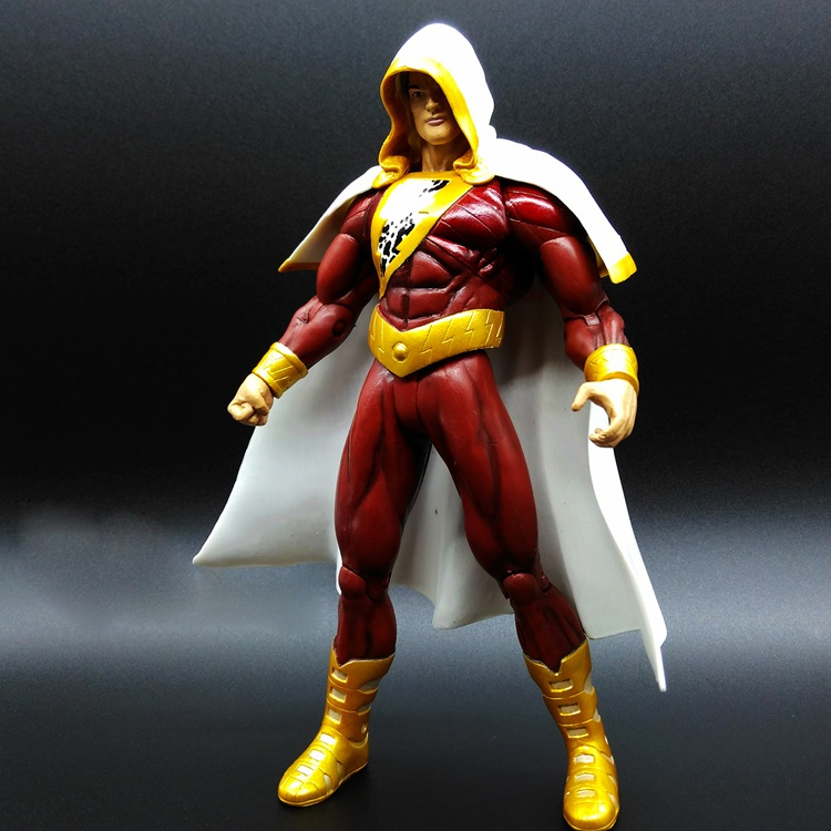 Shazans puppet justice alliance Sea King flash movable doll model toy film birthday gift.