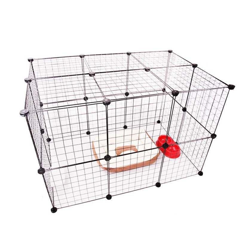 小型迪.大笼子笼兔猫别墅猫犬围栏门拼接宠物三层泰笼隔离猫室内