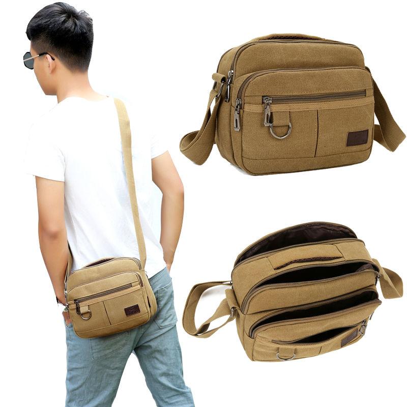New canvas bag business bag wallet Korean mens Bag Shoulder Bag Messenger Bag Travel Bag Handbag