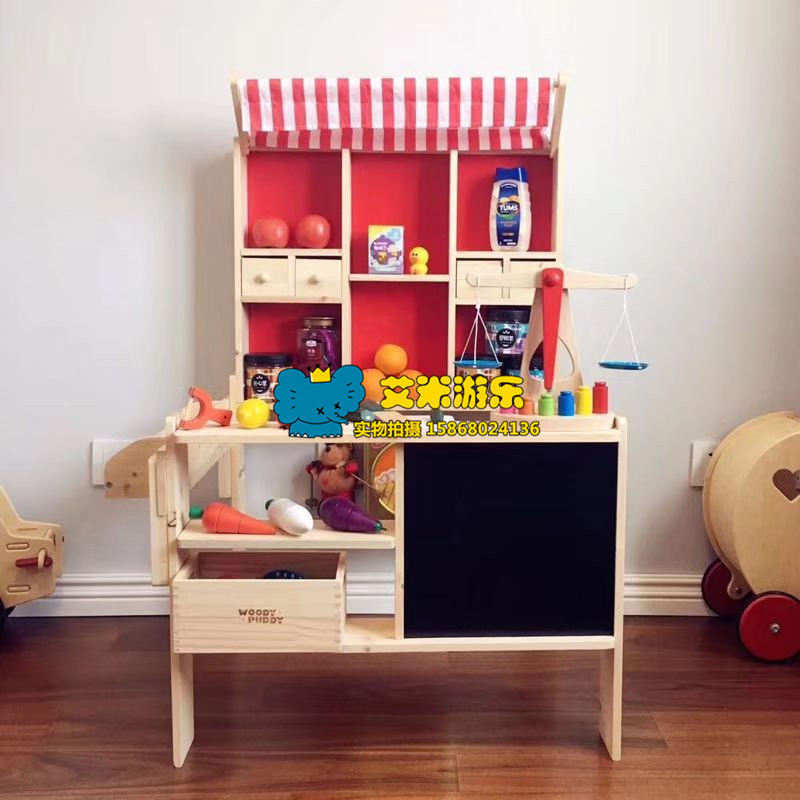 Childrens house sales desk role play supermarket shelves boys and girls buy and sell game props display cabinet