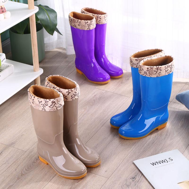 中國代購|中國批發-ibuy99|雨鞋|防水雨靴四季通用雨鞋女中筒高筒加绒保暖成人防滑耐磨时尚胶鞋夏