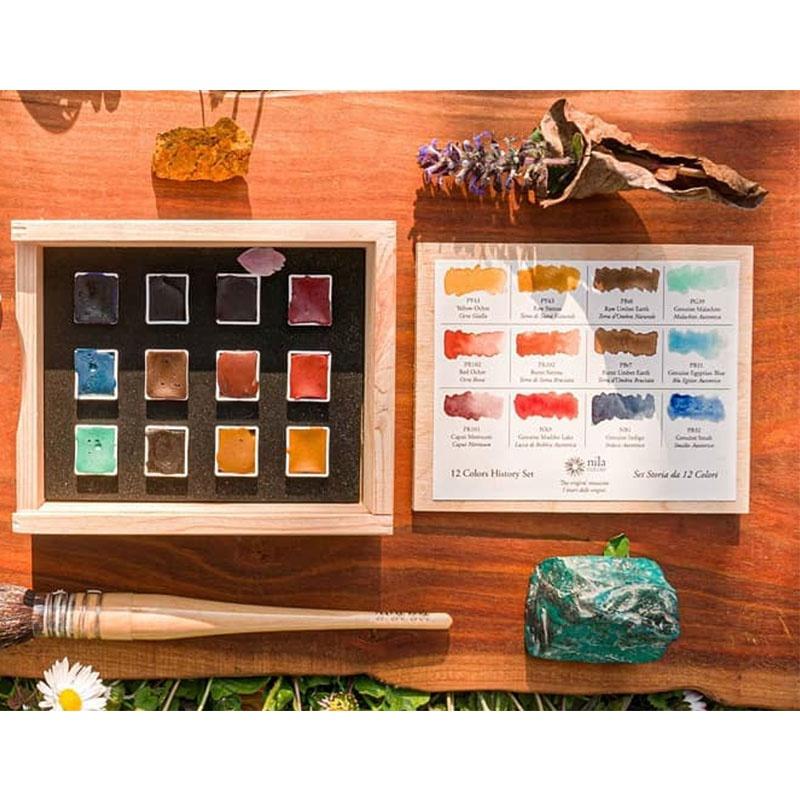 意大利水彩手工水彩颜料套装艺术家级12色小众固体水彩颜料。 Изображение 1