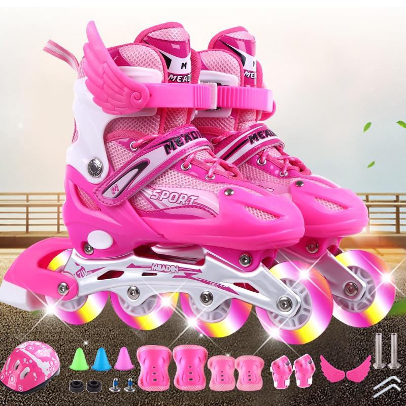 滑e冰鞋溜冰鞋儿童全套装女童6-10岁女小孩男旱冰轮滑鞋初学者可