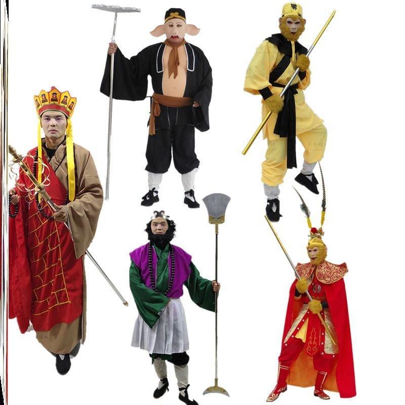 开票猪八戒演出服装86版西游记角色扮演孙悟空师徒四人沙道具儿童