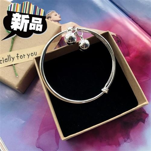 New Korean version small bell anklet silver fashion Anklet girl smooth r simple versatile temperament Anklet