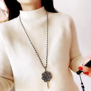 个性创意毛衣冬季配女饰子长毛衣链