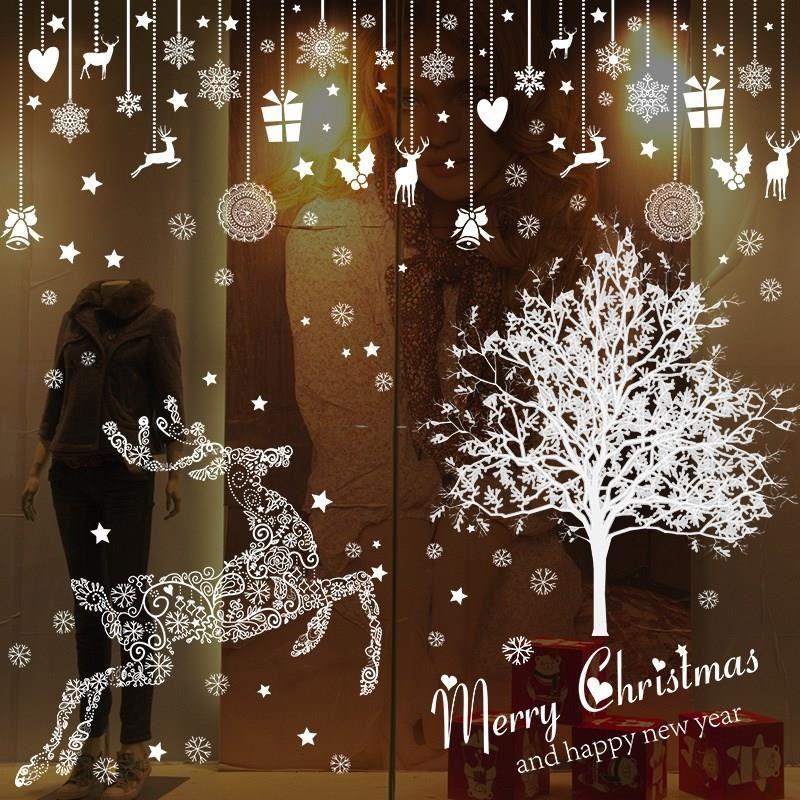 中國代購|中國批發-ibuy99|装饰品|圣诞贴纸墙新年贴圣诞节贴画贴窗花玻璃布置元旦饰橱窗门挂装饰品