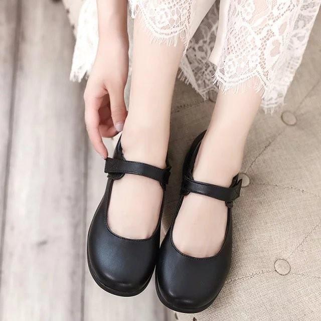 Girls shoes school uniform womens shoes uniform English belt color wind buckle student Cosplay soft JKS