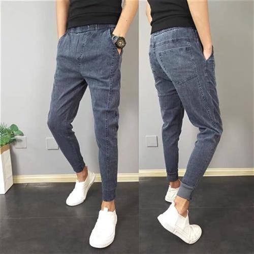 I medium pants spirit small low waist society 2021 regular cowboy mens slim Q small leg pants tide brand water
