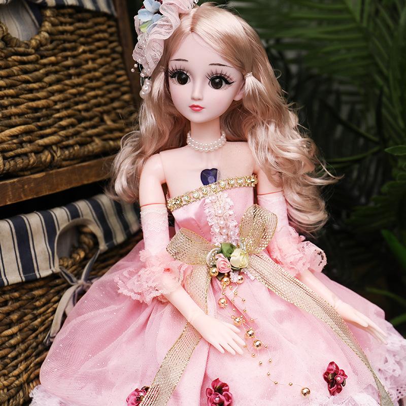 贵妃长发可爱的芭芘娃娃大号公主套装遥控关节体美丽仙女美人鱼。