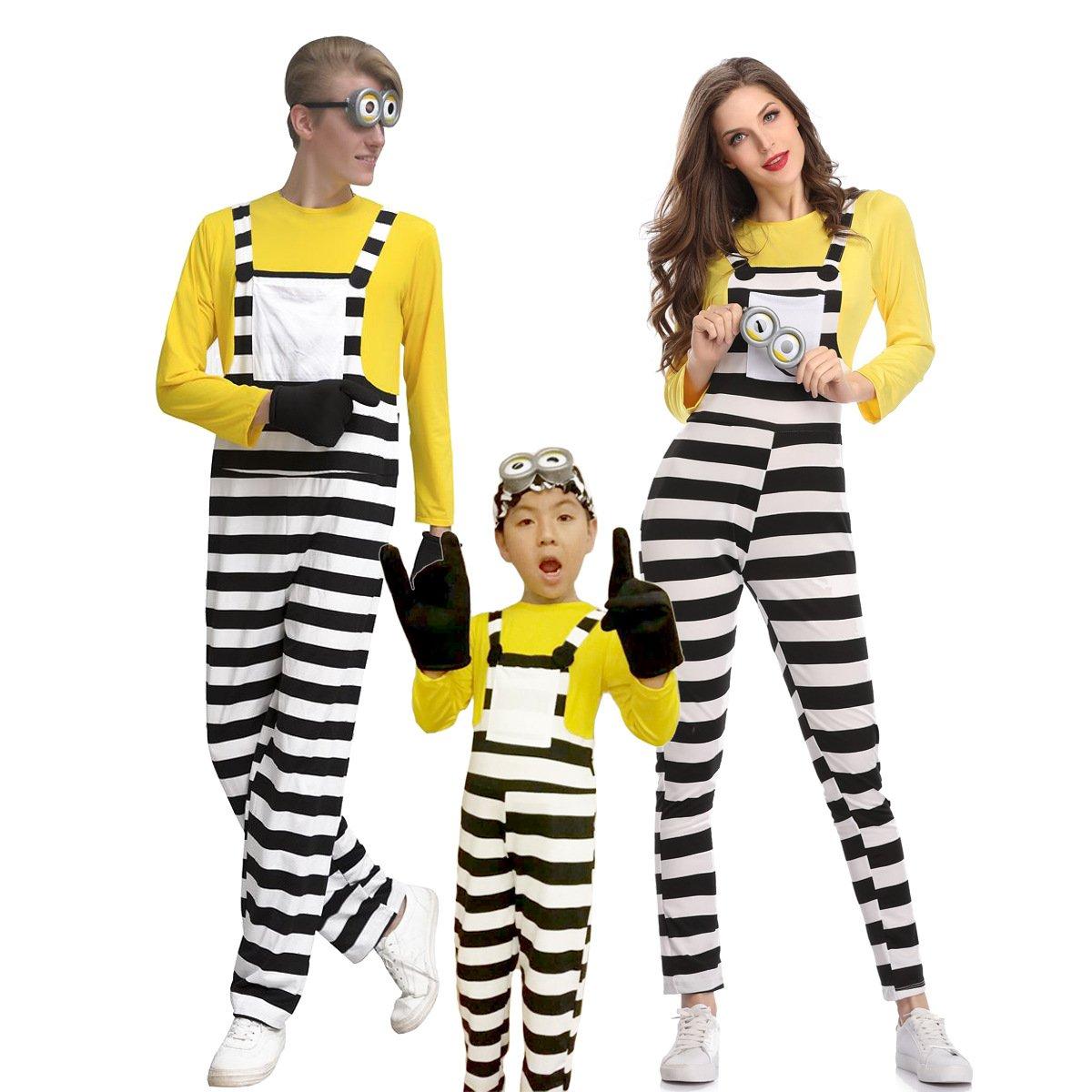 小黄人cosplay动漫角色扮演电影神偷奶爸亲子装万圣舞台演出衣服