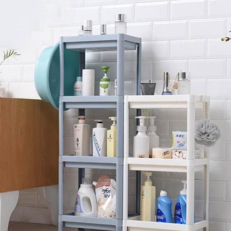 中國代購 中國批發-ibuy99 厕所用品 用品置物架洗手间洗漱卫生间收纳厕所落地式塑料架子洗澡多层浴室