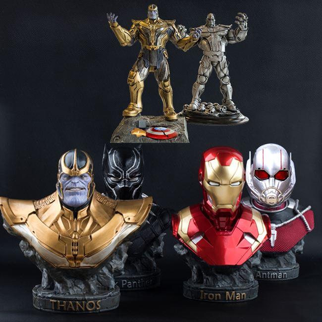 钢铁侠胸像复联复仇者联盟4灭霸黑豹蚁人雕像手办模型人偶公仔。