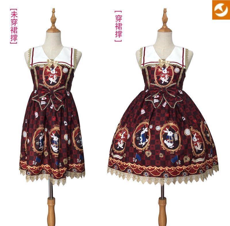 新款裙撑萝莉下半身里婚纱儿童衬裙女童内衬打底裙洛女装可爱礼服