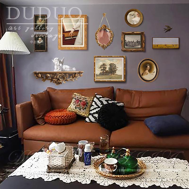 都多爱家欧式复古客厅装饰画美式轻奢沙发背景墙挂画卧室餐厅壁画