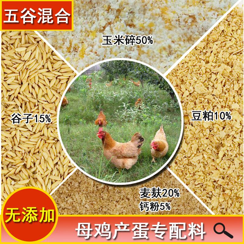 纯玉米碎大麦麸豆粕稻谷喂鸡农家散养鸭鹅禽混合五谷产蛋专用饲料