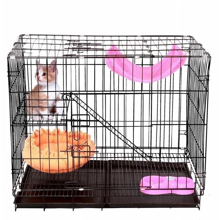 加粗别墅笼包邮笼猫猫三层幼猫折叠加密兔猫双层笼笼多层笼子幼