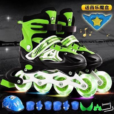 。溜冰鞋成年四轮大童中大童滑轮女童8岁幼儿滑旱冰十岁伸缩滑。