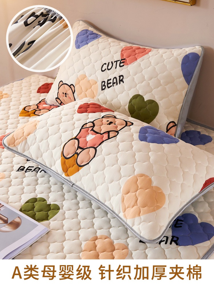 New class a knitted cotton pillow case thickened with cotton a pair of large household pillow cases 48x74 lovely super soft powder