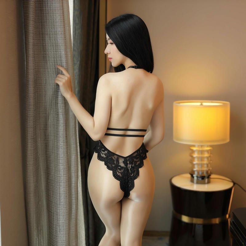 C open button demon womens tight lantingji bikini underwear, three-point one-piece lace clothes, sexy