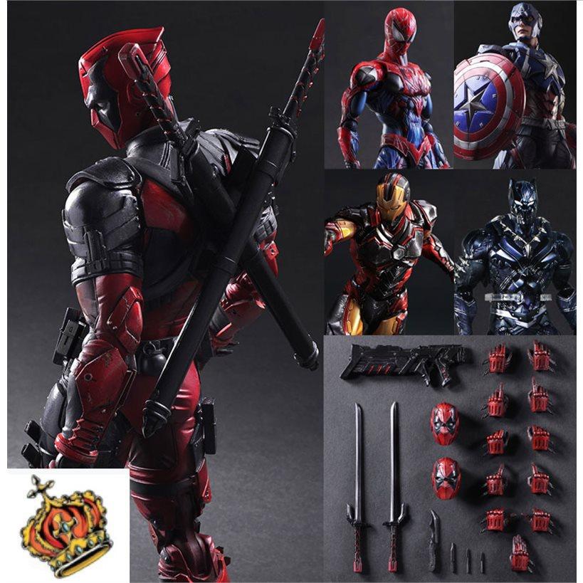 Paは鋼鉄の蜘蛛の侠の手を変えておもちゃの複合聯の4の報復者連盟の毒液バットマンの模型人に仕えます。