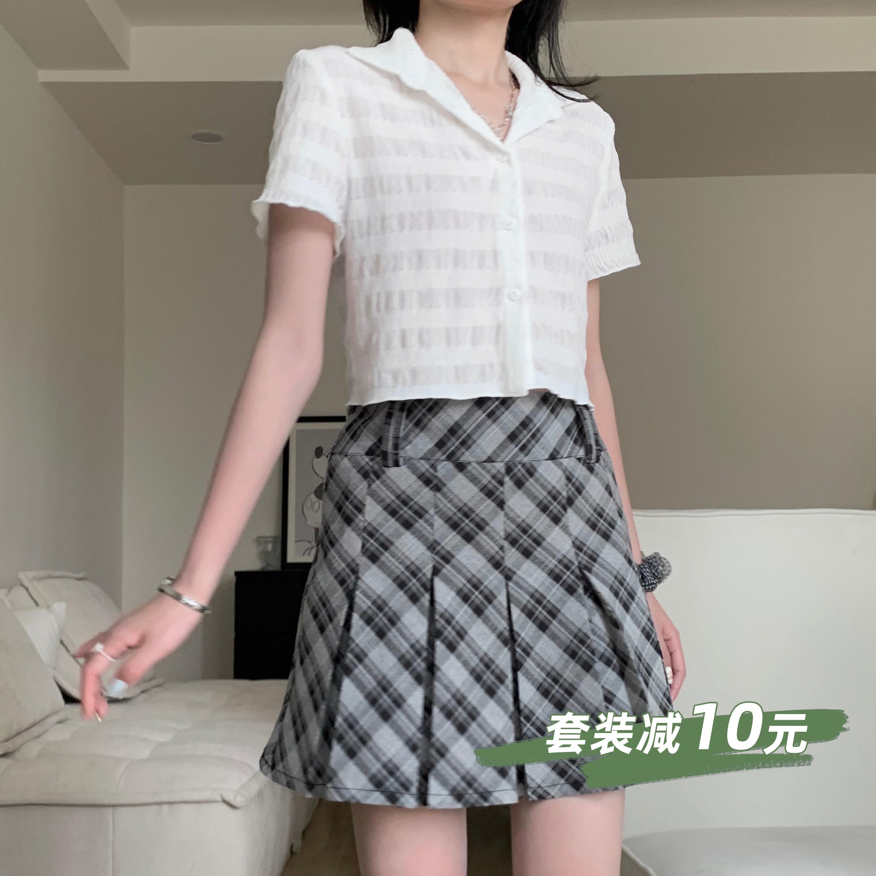 海晨酱自制夏季新款复古短款半身裙