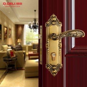 德利欧式简约卧室房间门锁室内大气门锁实木门门锁三件套