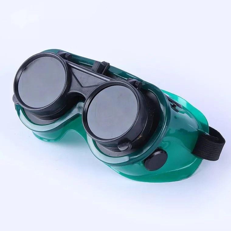 电焊护目眼镜片黑镜片平光透明防护专用防电弧二保防强光防打眼。