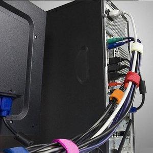 带50捆绑扎线带带收纳线理条集线器电源线线魔术鼠标整理电脑网线