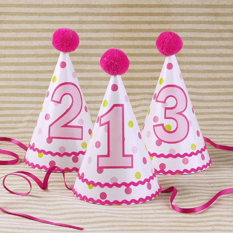 中國代購 中國批發-ibuy99 派对用品 节日派对装扮气氛用品创意生日帽儿童party三角帽寿星帽子 粉点。