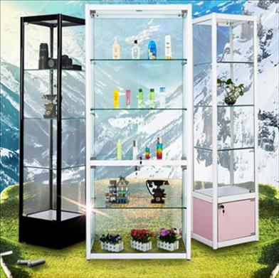 玻璃陈柜列柜展示展小型架柜框架展品柜柜饰品迷你产品柜全柜。